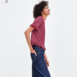 Zara Tops - NWOT. Zara round neck T-shirt. Size S.